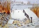 Winter, Schnee, Aquarellmalerei, Malerei