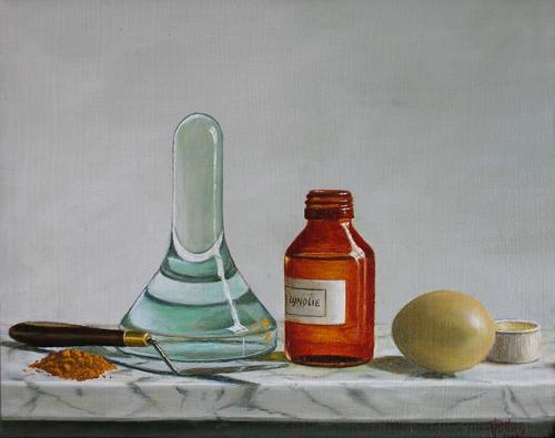 bild stillleben lmalerei realismus malerei von hub pollen bei kunstnet. Black Bedroom Furniture Sets. Home Design Ideas