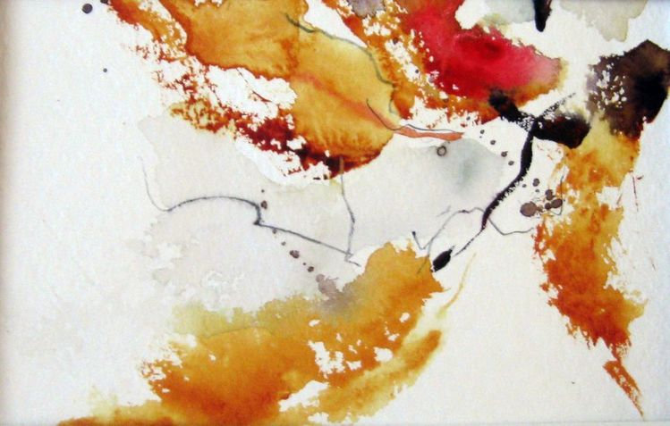 Nass, Pflanzen, Aquarellmalerei, Aquarell