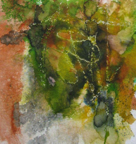 Landschaft, Aquarellmalerei, Nass, Aquarell, Teich, Herbst