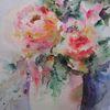 Blumen, Aquarellmalerei, Nass, Schicht