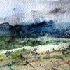 Aquarellmalerei, Landschaft, Nass, Aquarell