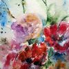 Schicht, Nass, Aquarellmalerei, Blumen