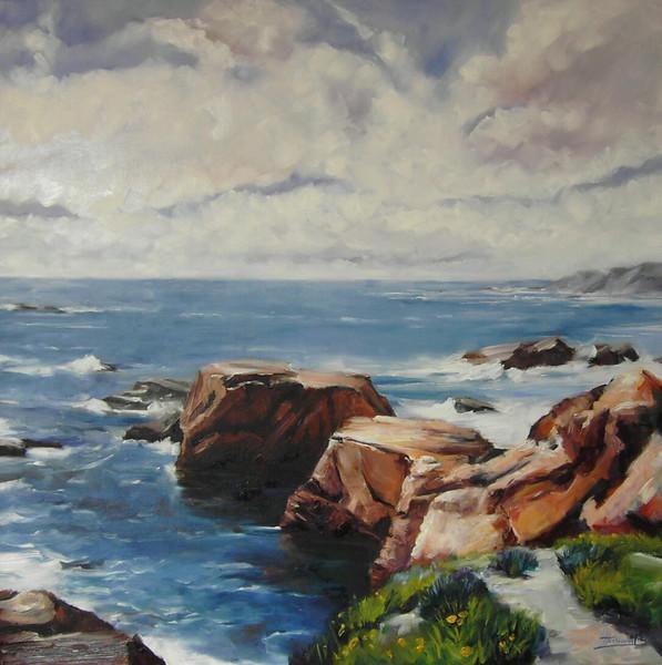 Malerei, Landschaft, Küste
