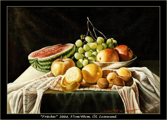 Stillleben, Malerei, Früchte