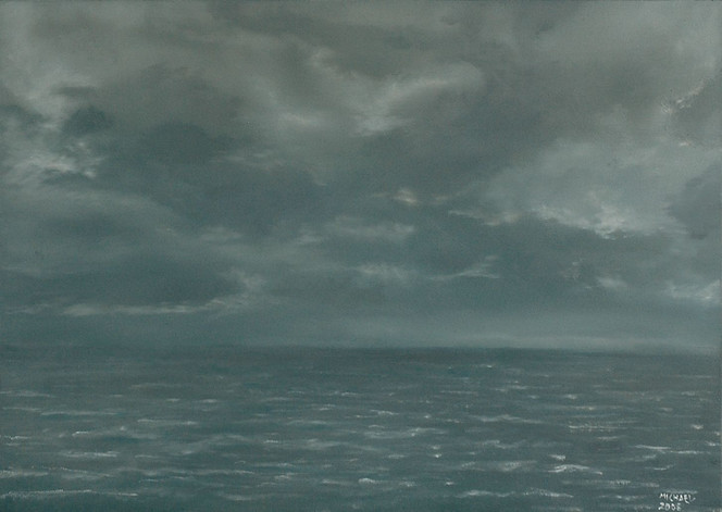 Wolken, Landschaft, Meer, Malerei, Ölmalerei, Himmel