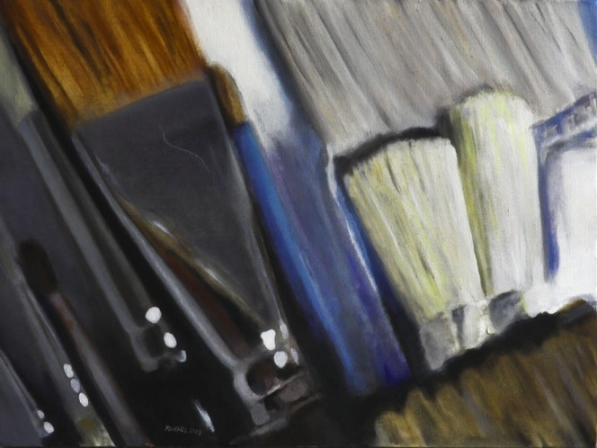 Stillleben, Malerei, Pinsel