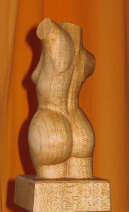 Holzskulptur, Kunsthandwerk, Schnitzkunst, Holzfigur, Holz, Holzplastik