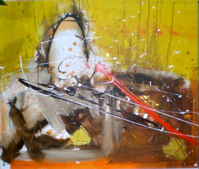 Malerei, Abstrakt, Ei