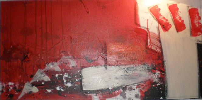 Weiß, Rot schwarz, Abstrakt, Kette, Malerei