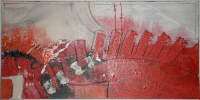 Abstrakt, Malerei, Kette