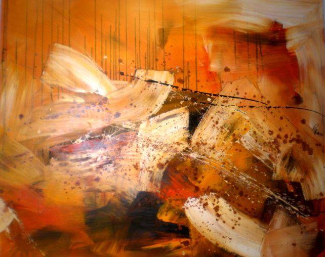 Stimmung, Feuer, Winter, Kamin, Malerei, Abstrakt