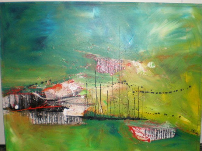 Malerei, Abstrakt, Ausbruch
