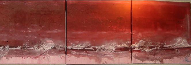Landschaft, Rosa, Seele, Abstrakt, Malerei