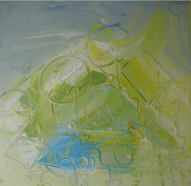 Malerei, Abstrakt, Summertime