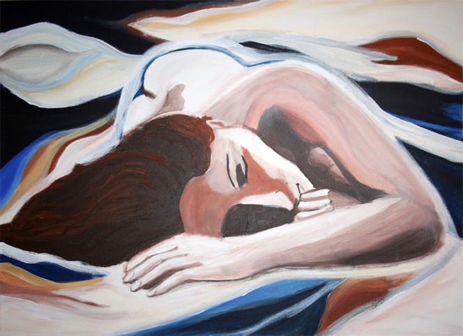Frau, Acrylmalerei, Figural, Malerei, Menschen