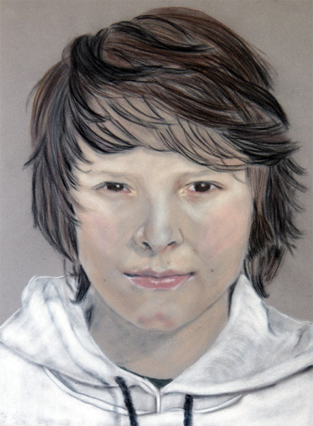 Pastellmalerei, Junge, Malerei, Portrait, Figural