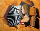 Malerei, Figural, Acrylmalerei, Beobachtung