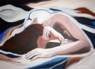 Frau, Acrylmalerei, Figural, Malerei