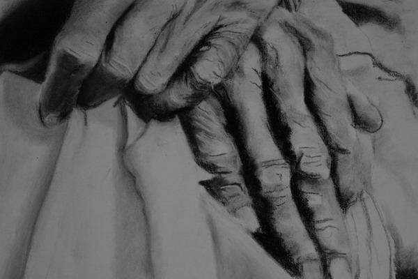 Kohlezeichnung, Hände, Zeichnung, Studie, Pastellmalerei, Zeichnungen