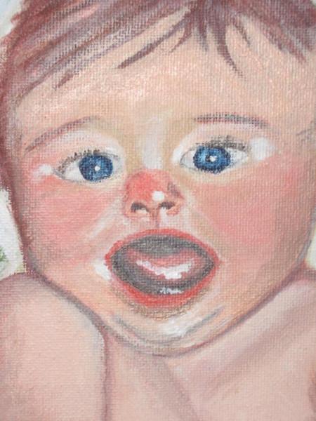 Baby, Acrylmalerei, Malerei, Portrait,