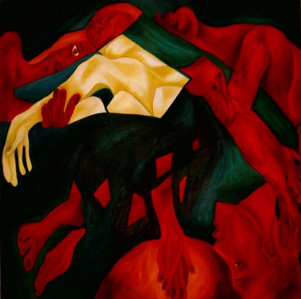 Menschen, Ölmalerei, Fantasie, Portrait, Figural, Malerei