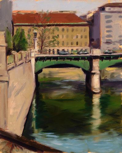 Studie, Ölmalerei, Malerei, Plein, Landschaft, Luft
