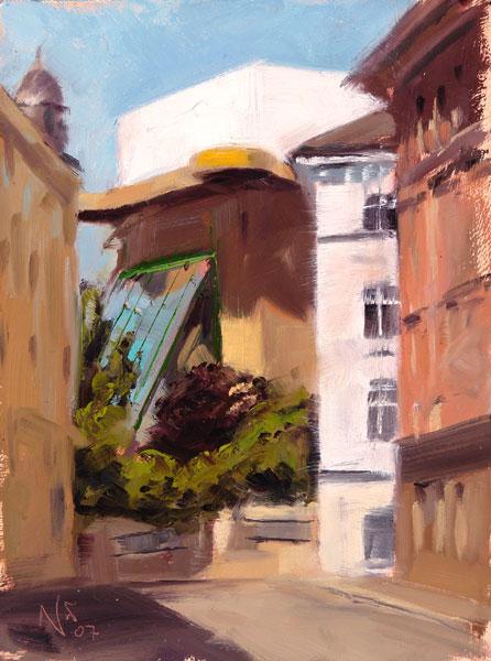 Malerei, Ölmalerei, Studie, Landschaft, Plein, Luft
