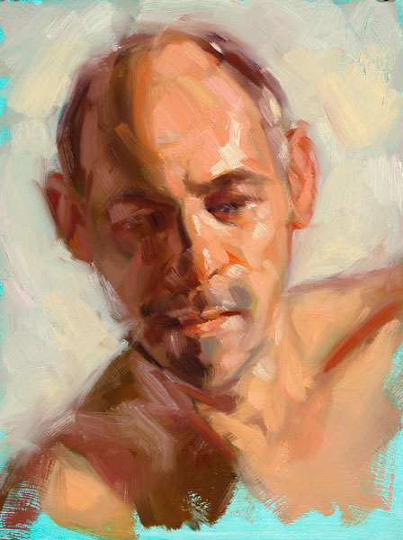 Malerei, Portrait, Ölmalerei, Studie