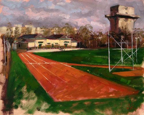 Luft, Stadtlandschaft, Landschaft, Freiluftmalerei, Plein, Ölmalerei