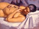 Malerei, Ölmalerei, Akt, Figur