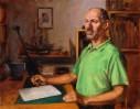 Malerei, Portrait, Ölmalerei, Interieur