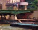 Ölmalerei, Stadtlandschaft, Studie, Malerei