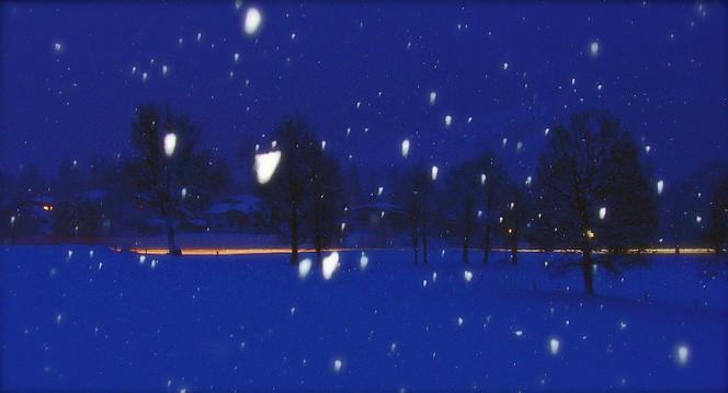 Nacht, Söll, Fotografie, Landschaft, Schnee