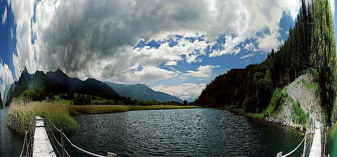 Fotografie, Landschaft, Haidersee, Panorama
