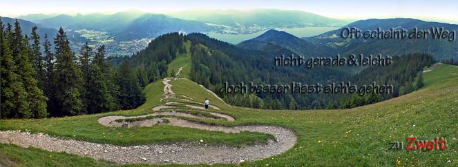 Bodenschneid, Weg, Zuzweit, Tegernsee, Verschlingen, Schmal