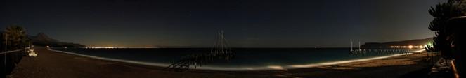 Strand, Panorama, Kema, Nacht, Türkei, Landschaft
