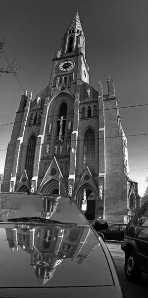 Fotografie, München, Kirche, Spiegel, Architektur, Vertikalpanorama