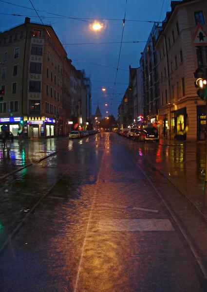 Vertikalpanorama, Dämmernung, Regenlicht, Fotografie, Reiseimpressionen