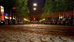 Straßenbahn, München, Nacht, Orleansstraße