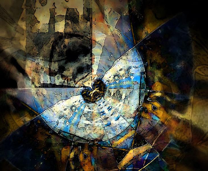 Farben, Dreiviertel, Rund, Braun, Gelb, Digitale kunst