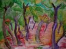 Baum, Aquarellmalerei, Bunt, Malerei