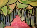Wald, Farben, Tuschmalerei, Malerei
