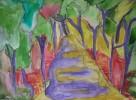 Landschaft, Malerei, Licht, Wald