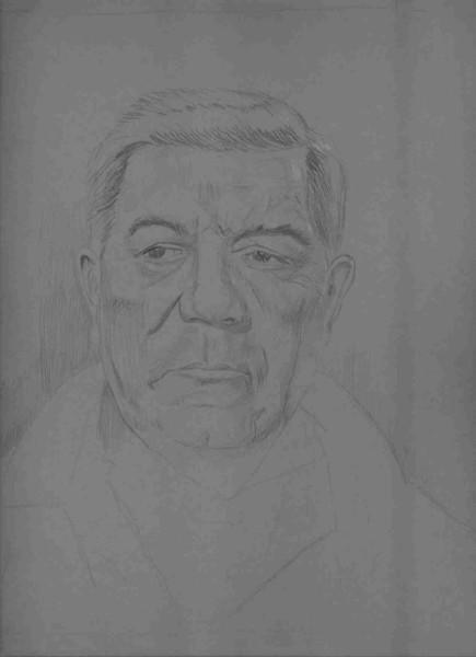 Portrait, Wip, Bleistiftzeichnung, Skizze