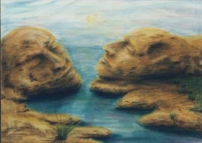 Surreal, Sonnenuntergang, Wasser, Meer, Psychologie, Zeichnung