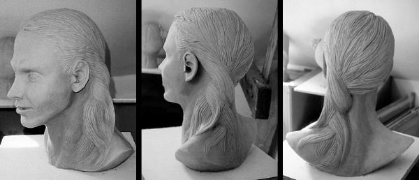 Skulptur, Kopf, Hamburg, Ton, Plastik,