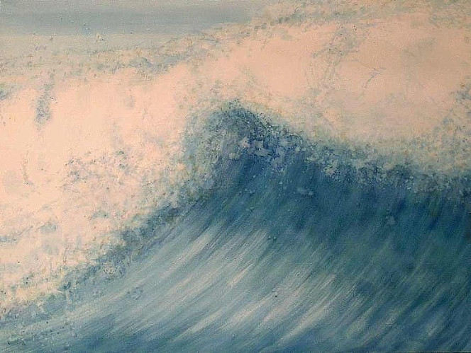 Malerei, Welle, Wasser, Blau, Brandung, Meer
