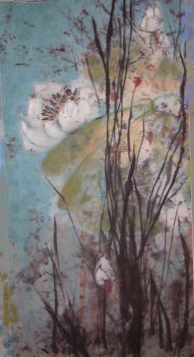 Chinesisch, Pollen, Malerei, Blüte, China, Natur