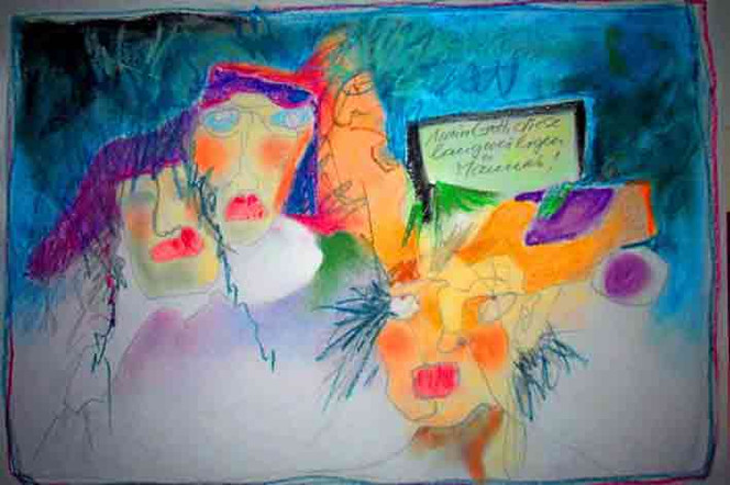 Blödsinn, Mann, Malerei, Frau, Zeichnung, Langeweile